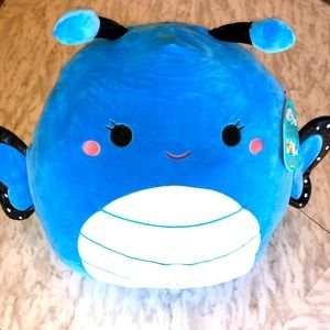 """NWT 16"""" Willa the Blue Butterfly Squishmallow"""